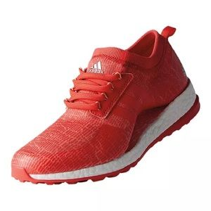Adidas Pureboost xG Golf Shoes Red/Coral